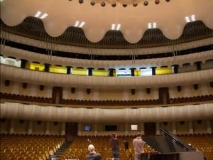 Sound check at Samara Philharmonic