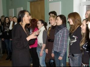 Teaching a master class at Belarus Academy of Music, 2012