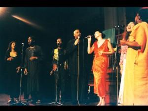 Vocal group concert, 2003 with: Elisabeth Kontomanou, Siji Awoyinka, Gino Sitson, Jeffery Smith, Tessa Souter, Shakti (Thara Tangavelu), Wes Madiko