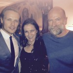 w/ Sam Heughan and Graham McTavish at Outlander premiere party April 1, 2015