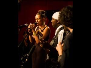 w/ Marc Cary, Charnett Moffet, Oran Etkin at Charnett's SOS gig at Jazz Standard, 2013