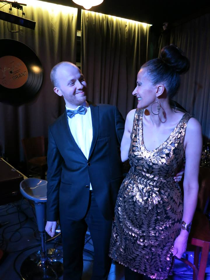 """At """"Fort Grand"""" jazz club with Anton Zoobarev"""