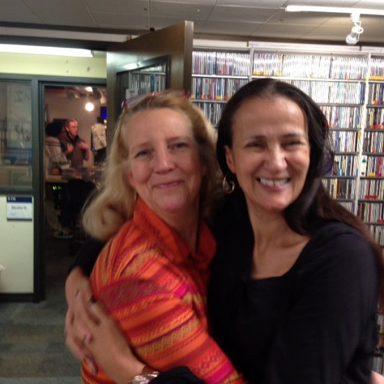 Alisa Clancy and me before my KCSM radio Desert Island Jazz interview