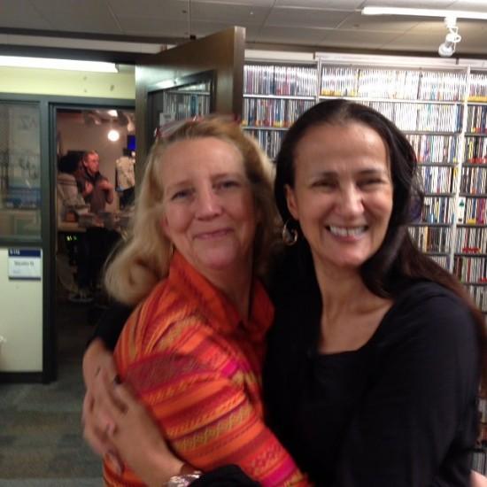 Alisa Clancy and me before my KCSM radio Desert Island Jazz interview