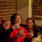 w/ Dana Leong and friend after gig dinner, Vologda