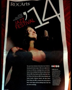Cover of Rochester Democrat and Chronicle Jazz fest guide, 2014