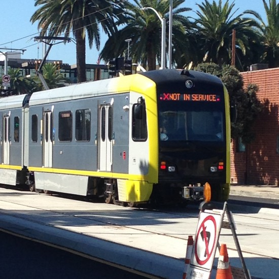 The new tram in LA - not even operational yet