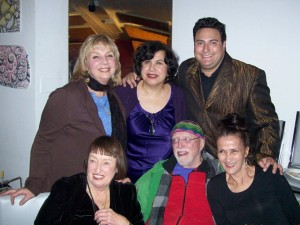 w/ Linda Ciofalo, Roz Corral, Ari Silverstein, Sheila Jordan and Mark Murphy at Ari's birthday party