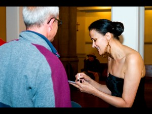 Signing CDs at Xerox Rochester Jazz Festival, 2009
