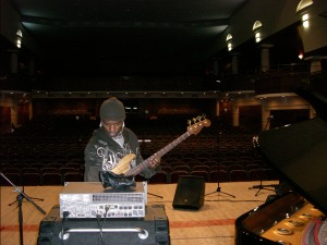 Sound check at Ufa Philharmonic w Richie Goods