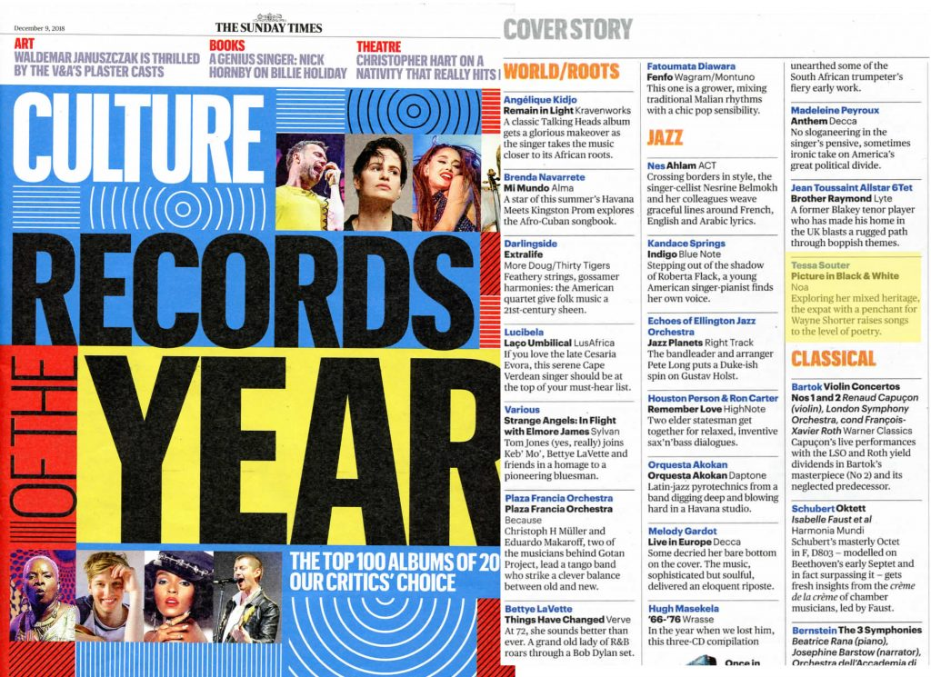 Sunday Times Top 100 Records of the Year List – Tessa Souter