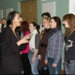 Teaching a master class at Belarus Academy of Music, 2012