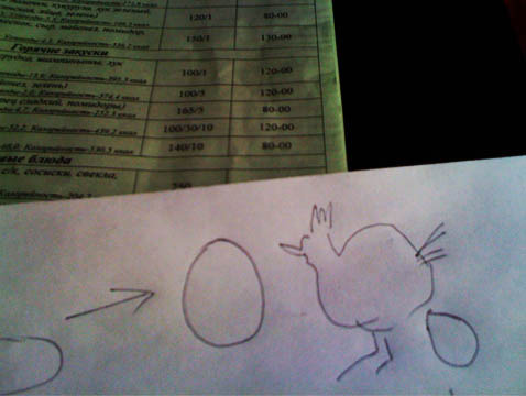 ordering in pictionary