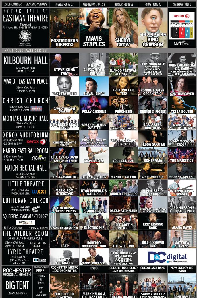 Xerox Rochester International Jazz Festival poster