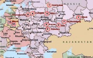 russian map w minsk
