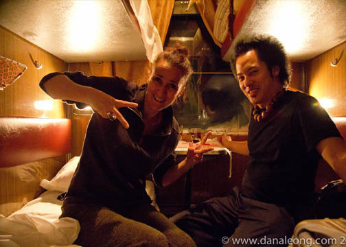 In our cabin on the Siberian train