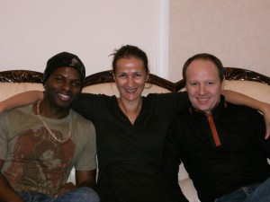 w/ Richie Goods and Oleg Buttman on tour in Siberia, 2008