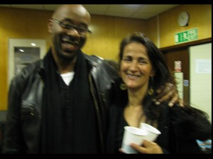 w/ filmmaker and author Kolton Lee backstage at QEH after Carla Bley and the lost Chords gig