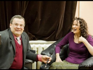 w/ radio interviewer in backstage at Ufa Philharmonic, 2012