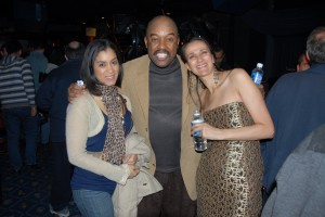 w/ Essiet Okon Essiet and his beautiful daughter Daphne after our gig at the Blue Note